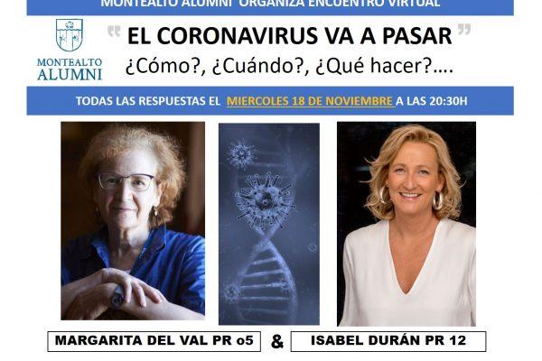 ¿El coronavirus va a pasar?  ¿Cómo, cuándo, qué hacer..?